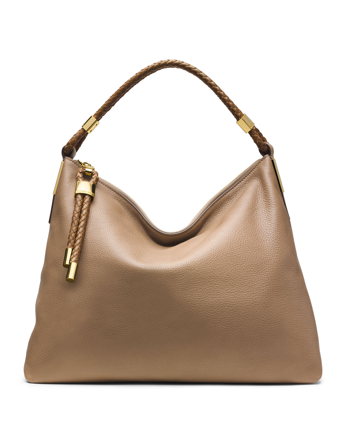 michael kors skorpios topzip hobo bag in brown desert lyst