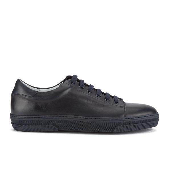 A.p.c. Men'S Jaden Leather Tennis Shoes in Blue for Men | Lyst