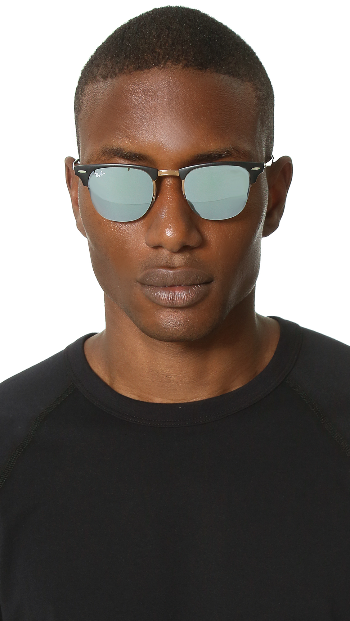 edf59a7071 Ray-Ban Lightweight Clubmaster Sunglasses With Flash Lens in Brown for Men  - Lyst