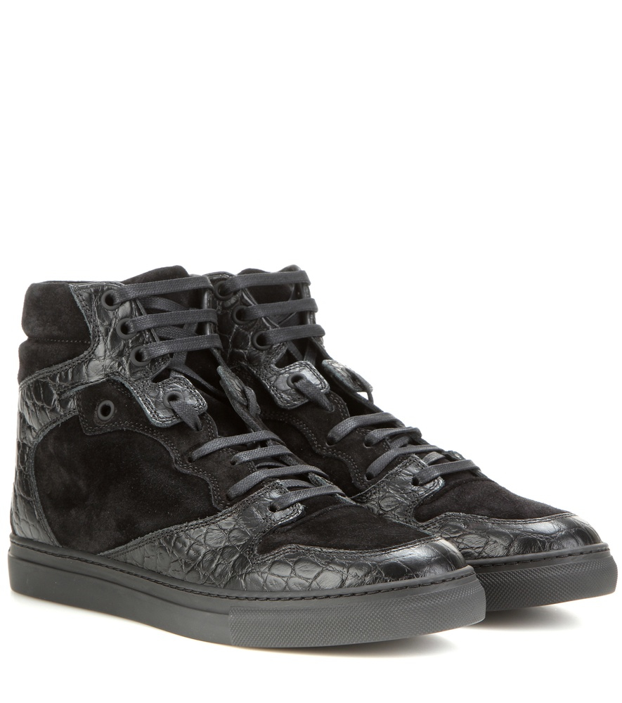 Balenciaga Leather High-Top Sneakers best prices cheap online Oc0x1