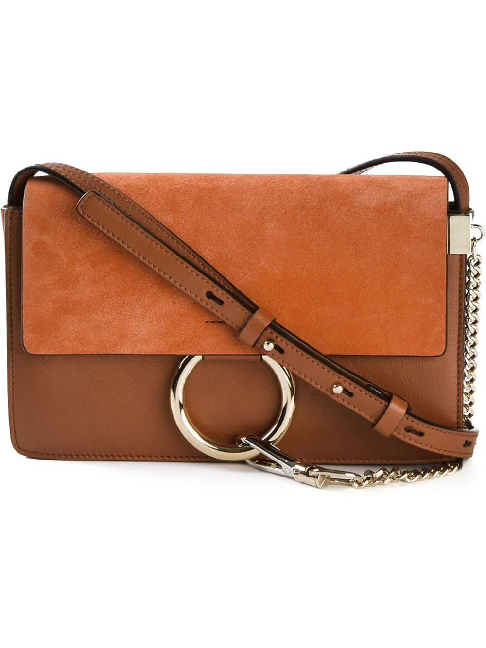 Lyst - Chloé  Faye  Crossbody Bag in Brown 752f092bc8c6