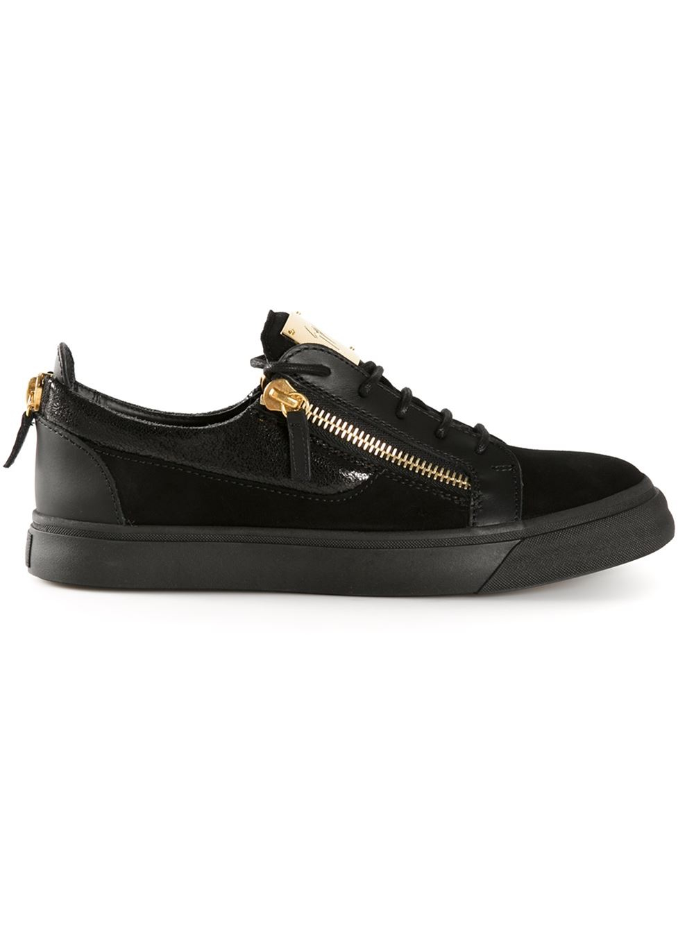 Giuseppe Zanotti Zip Detail Sneakers in Black for Men | Lyst