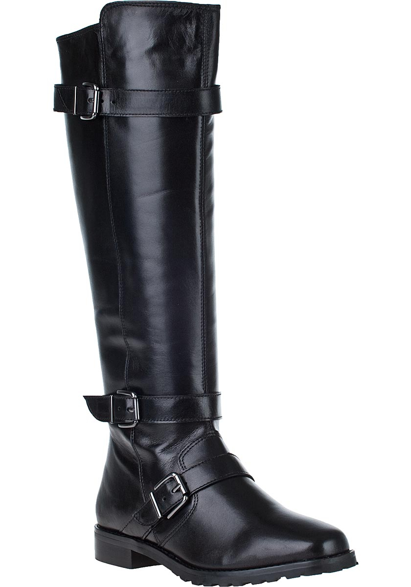 vaneli for jildor welle boot black leather in black