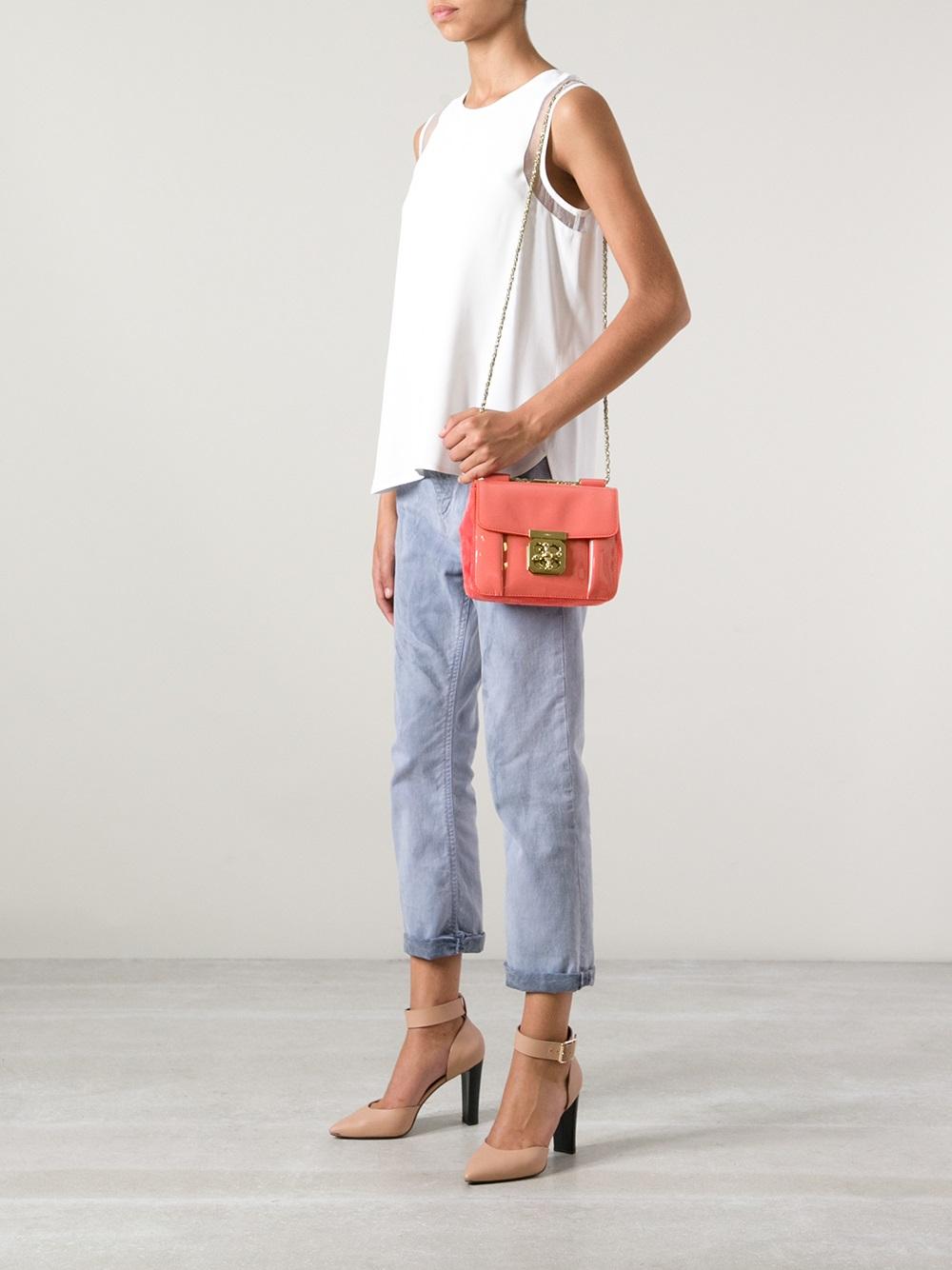 Chlo¨¦ Small \u0026#39;Elsie\u0026#39; Shoulder Bag in Pink (pink \u0026amp; purple) | Lyst