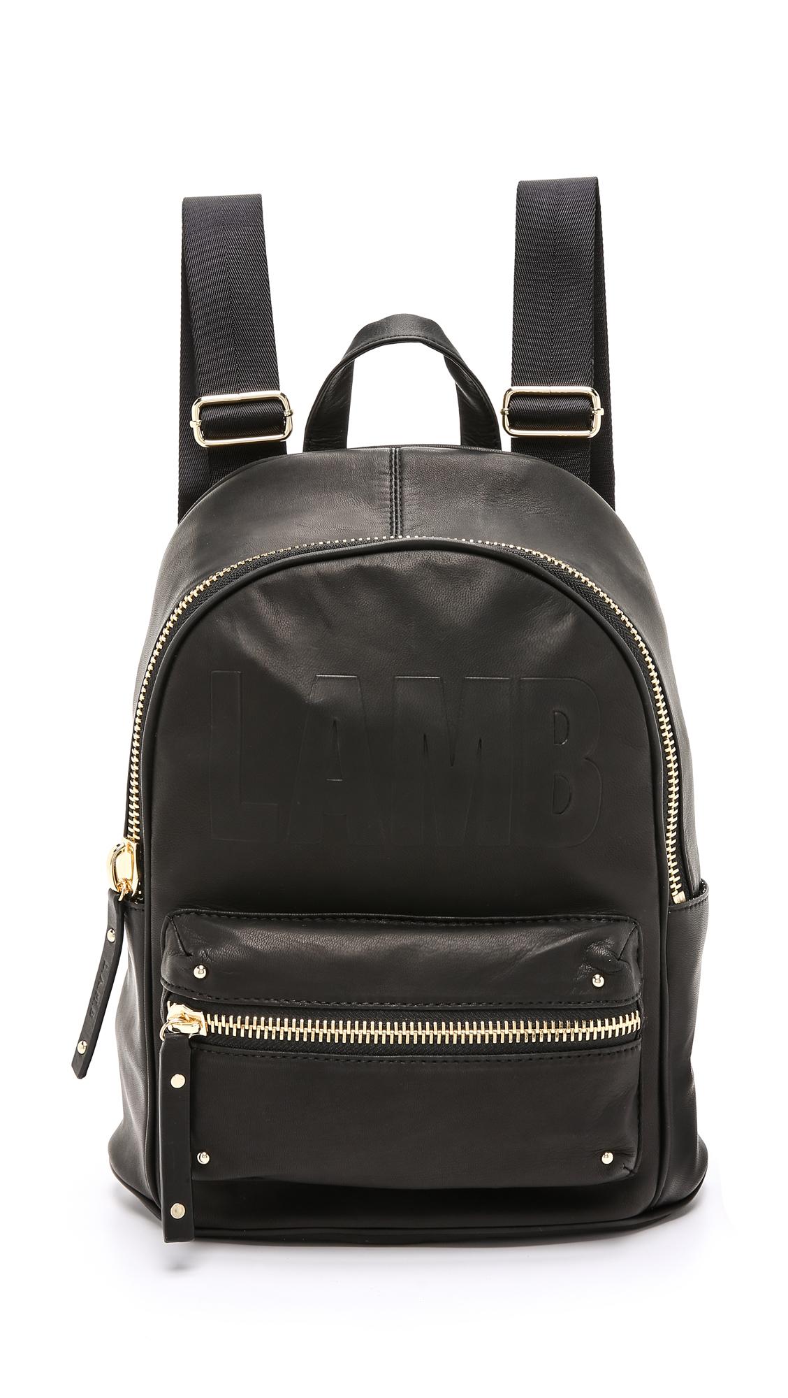 lyst l a m b iban backpack in black. Black Bedroom Furniture Sets. Home Design Ideas