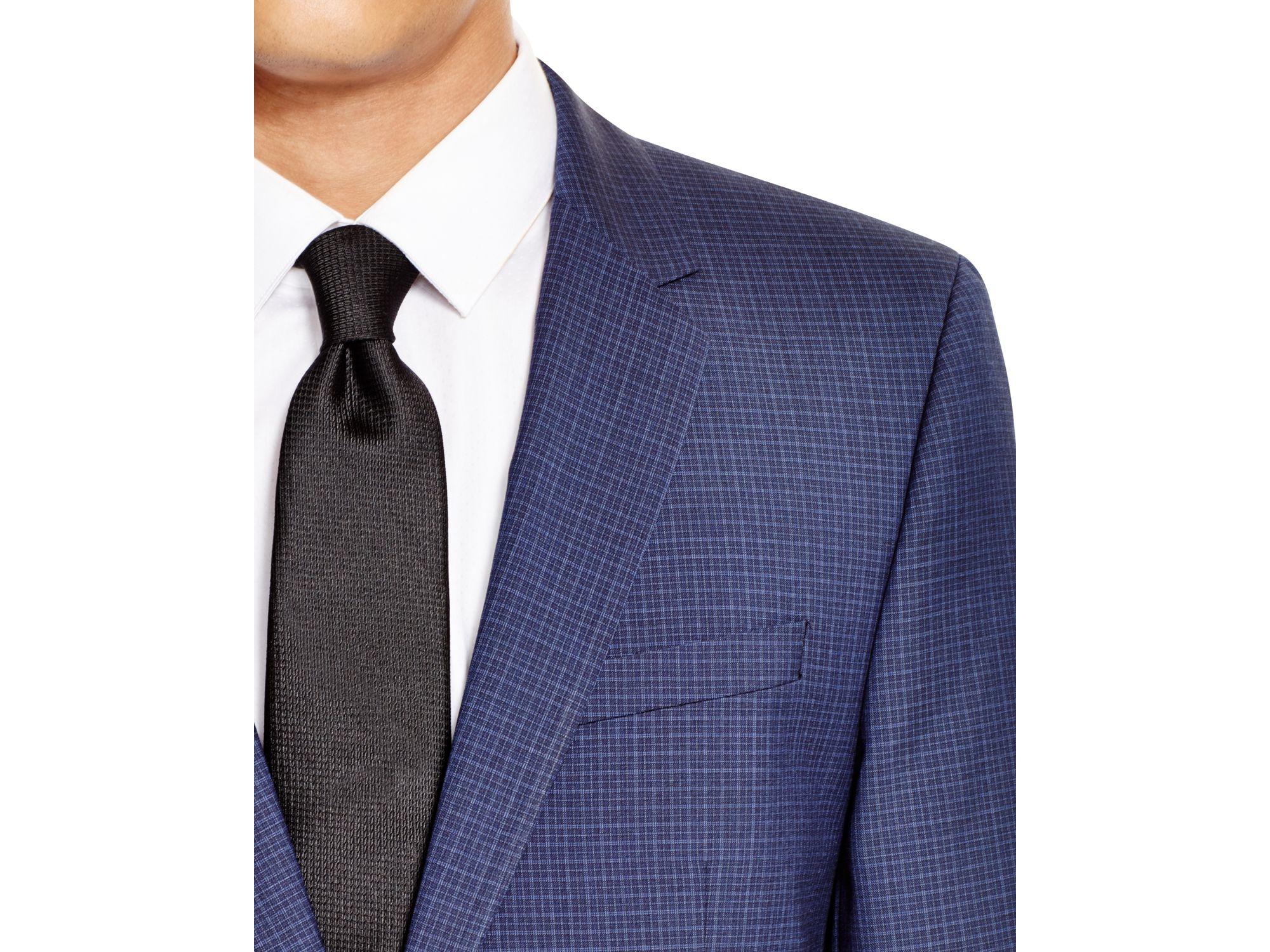 7ca16ba7 BOSS Hugo Microcheck Aeron/hamen Extra Slim Fit Suit in Blue for Men ...