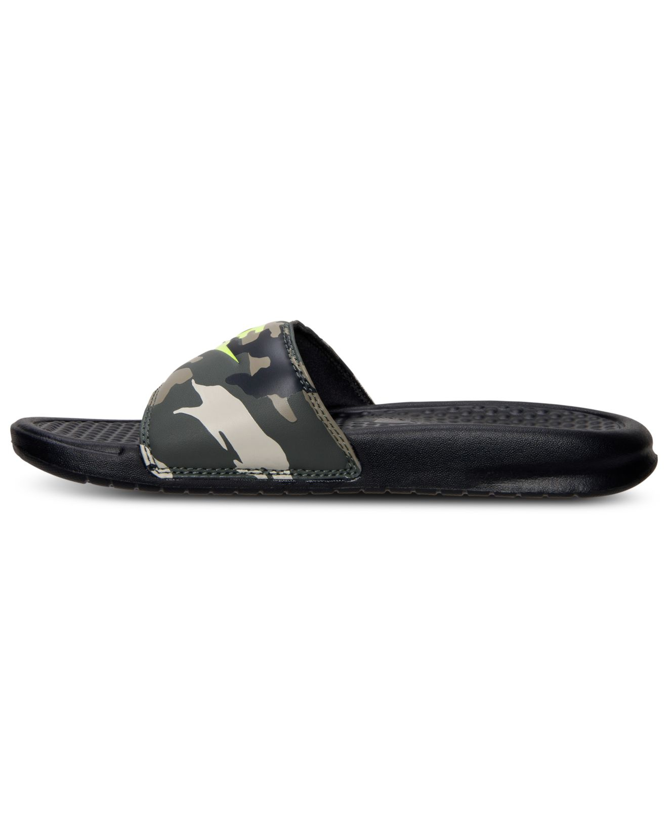 78efe5ffd7fc ... purchase lyst nike mens benassi jdi print slide sandals from finish  line in brown for men