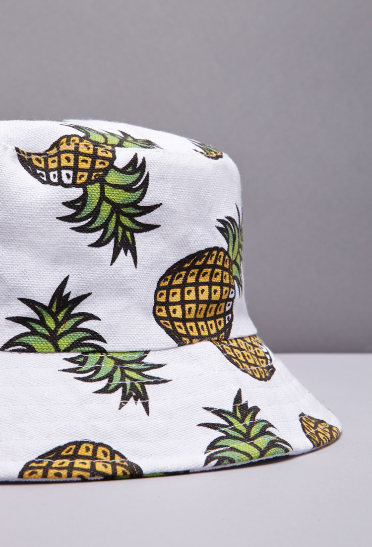 e2fb5062361 Lyst - Forever 21 Pineapple Print Bucket Hat You ve Been Added To ...