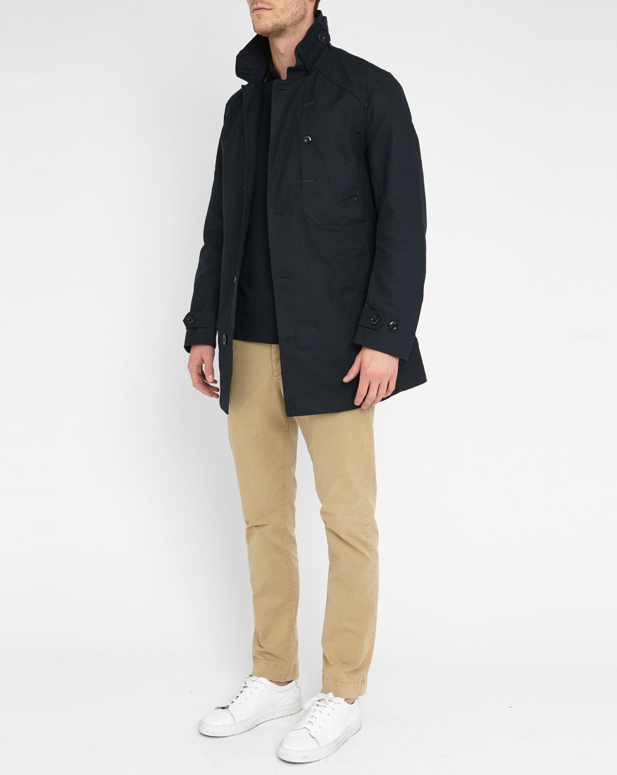 g star raw navy garber trench coat in blue for men lyst. Black Bedroom Furniture Sets. Home Design Ideas