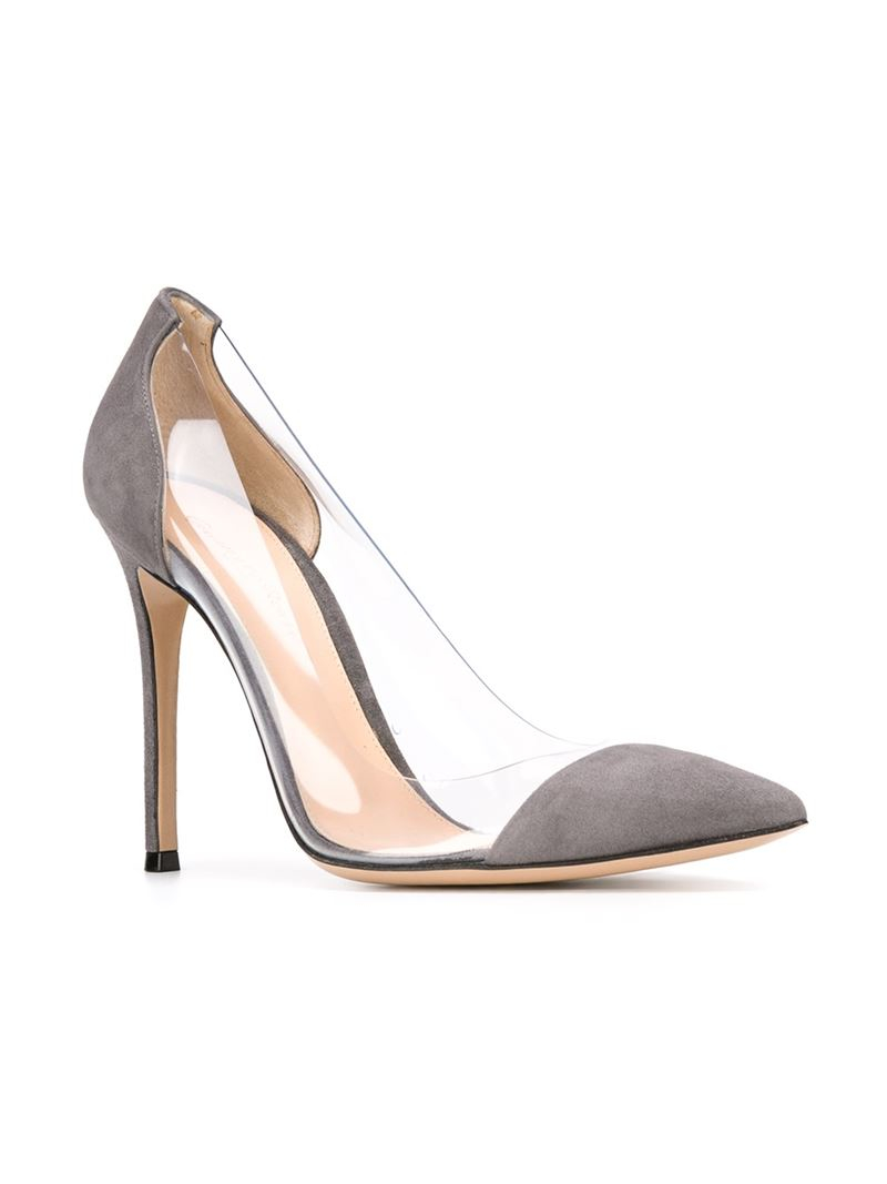 Gianvito Rossi Grey Leather Heels BBFeJd21by