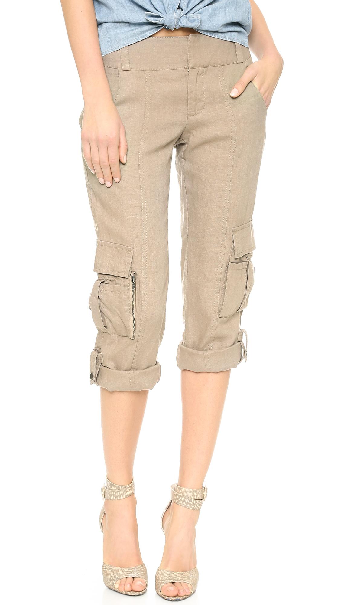 Alice Olivia Alice Olivia Narrow Rolled Cuff Cargo Pants