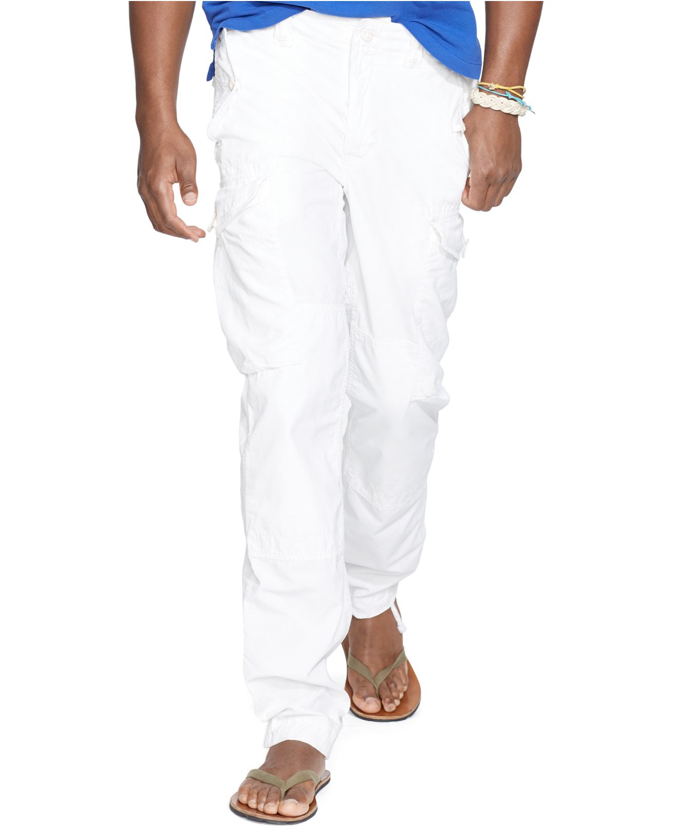 41b5aa57f Polo Ralph Lauren Straight-fit Ripstop Cargo Pants in White for Men ...