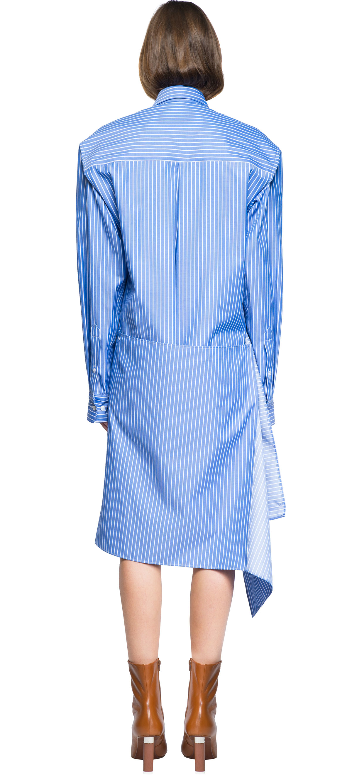 Lyst Vetements Shirt Dress In Blue