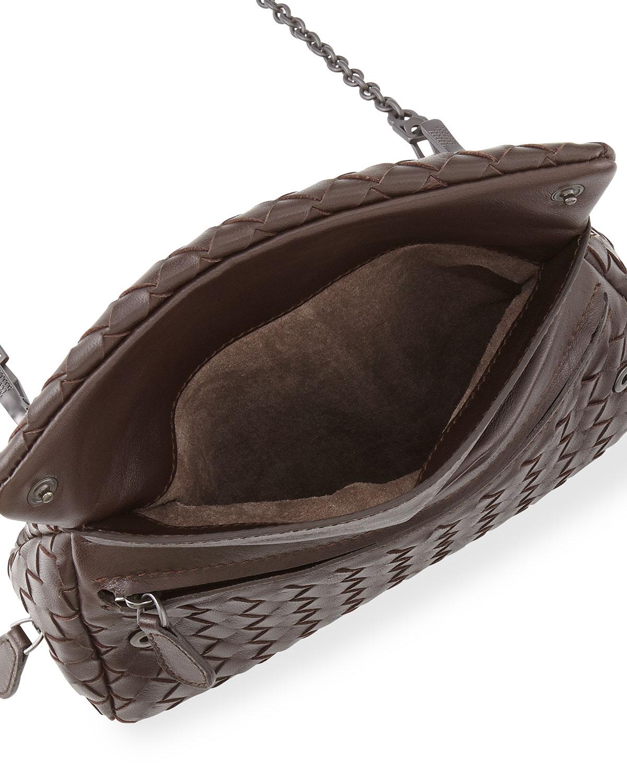 Lyst Bottega Vea Woven Mini Crossbody Bag In Brown
