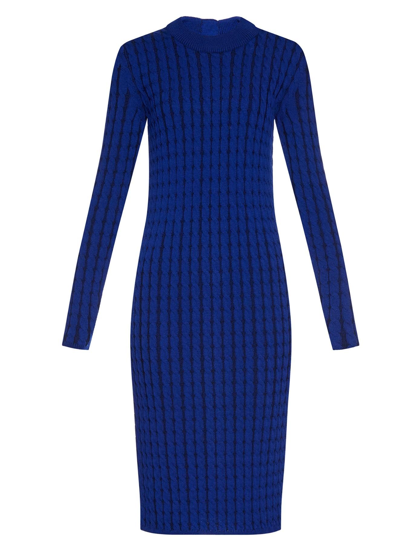 Proenza schouler Cable-knit Wool-blend Dress in Blue Lyst