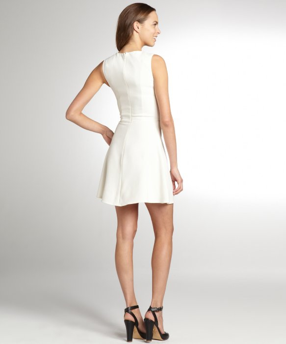 French connection feather ruth dress white