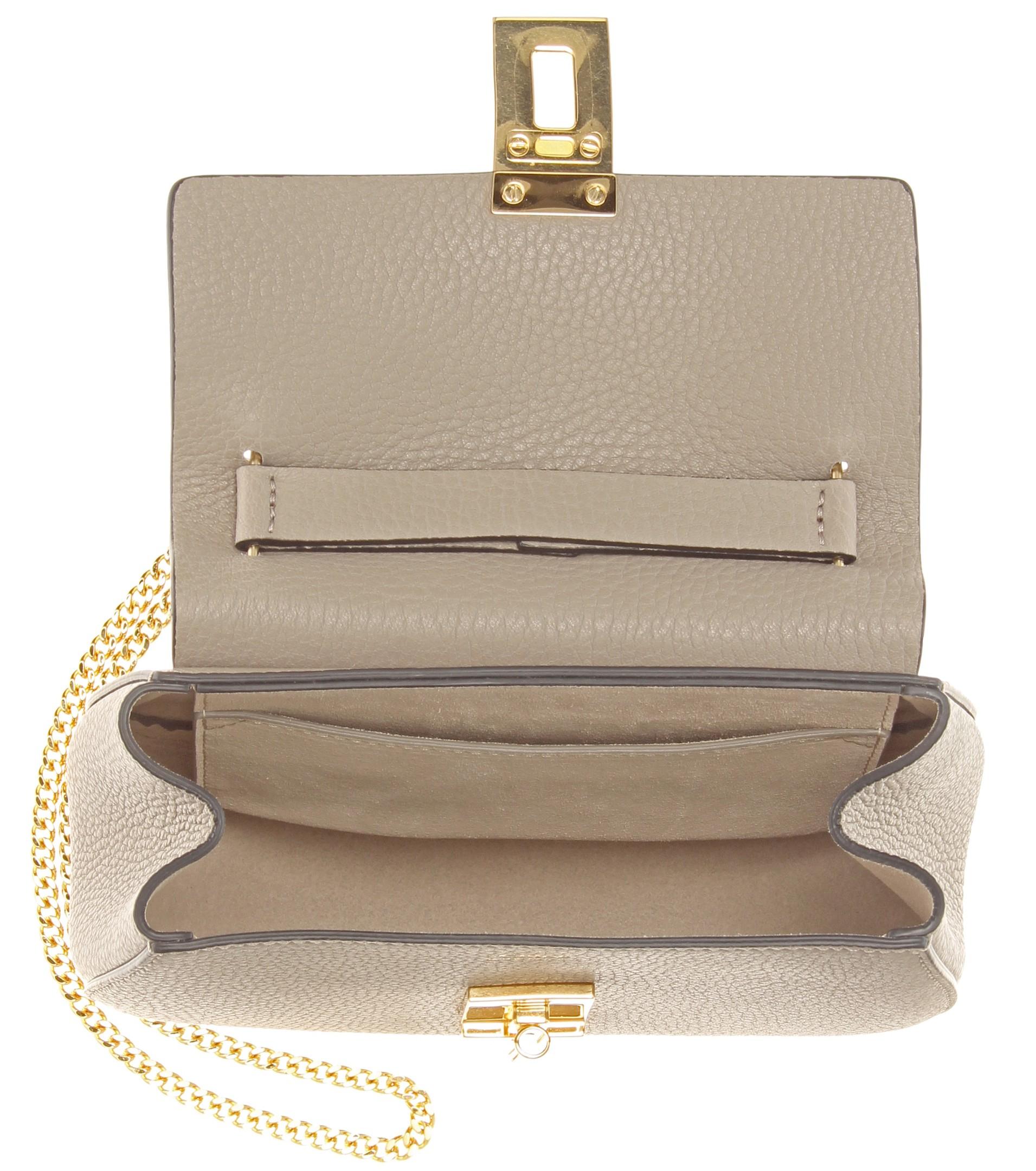 Chlo�� Drew Mini Leather Shoulder Bag in Gray (Motty Grey) | Lyst