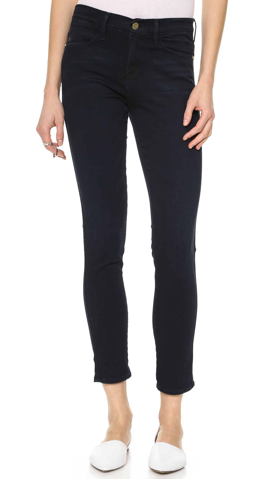 Frame Le High Rise Skinny Jeans St James In Blue Lyst