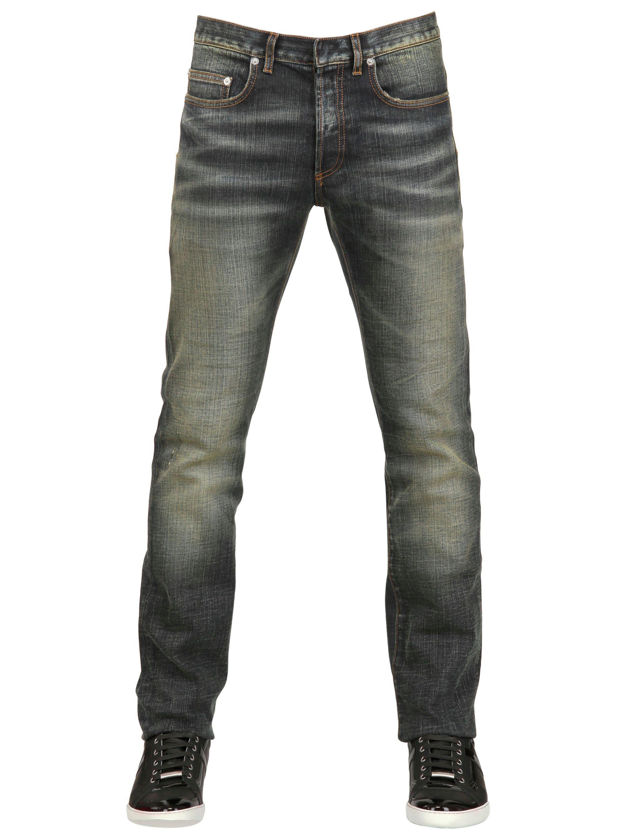 Dior homme 19cm Jake Stretch Denim Jeans in Blue for Men ...
