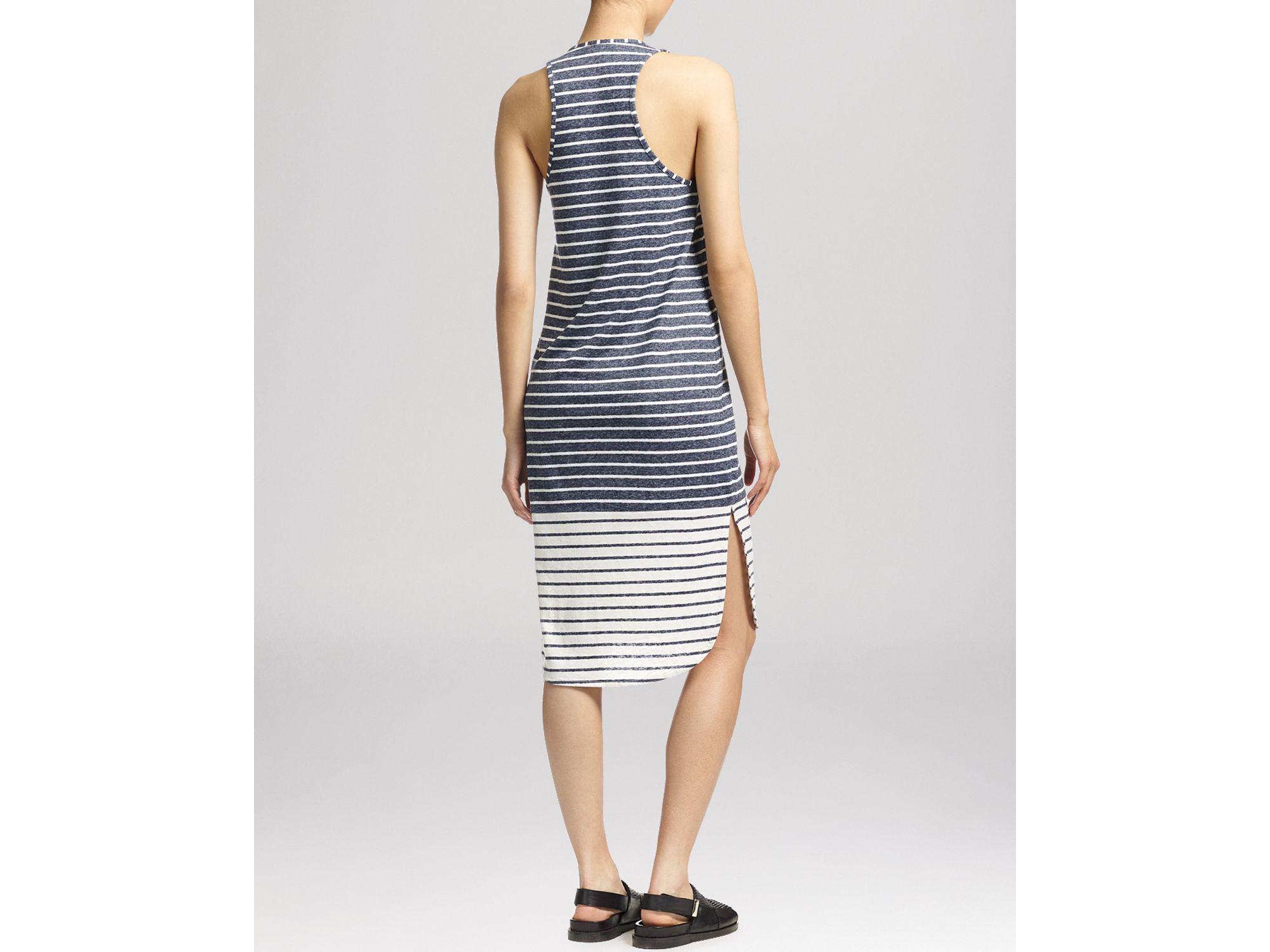 Whistles Bailey Stripe Midi Dress In Blue Lyst