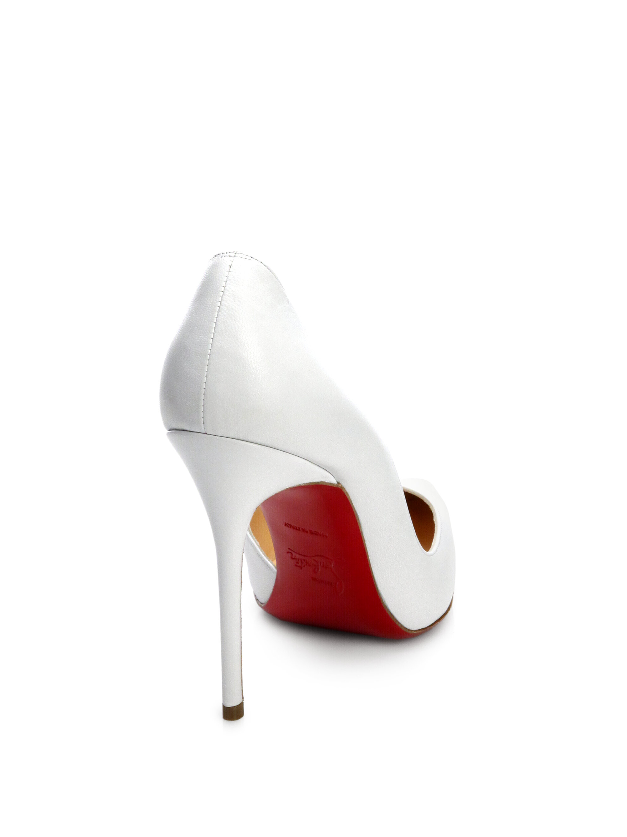 Christian louboutin Iriza Leather D\u0026#39;orsay Pumps in White | Lyst