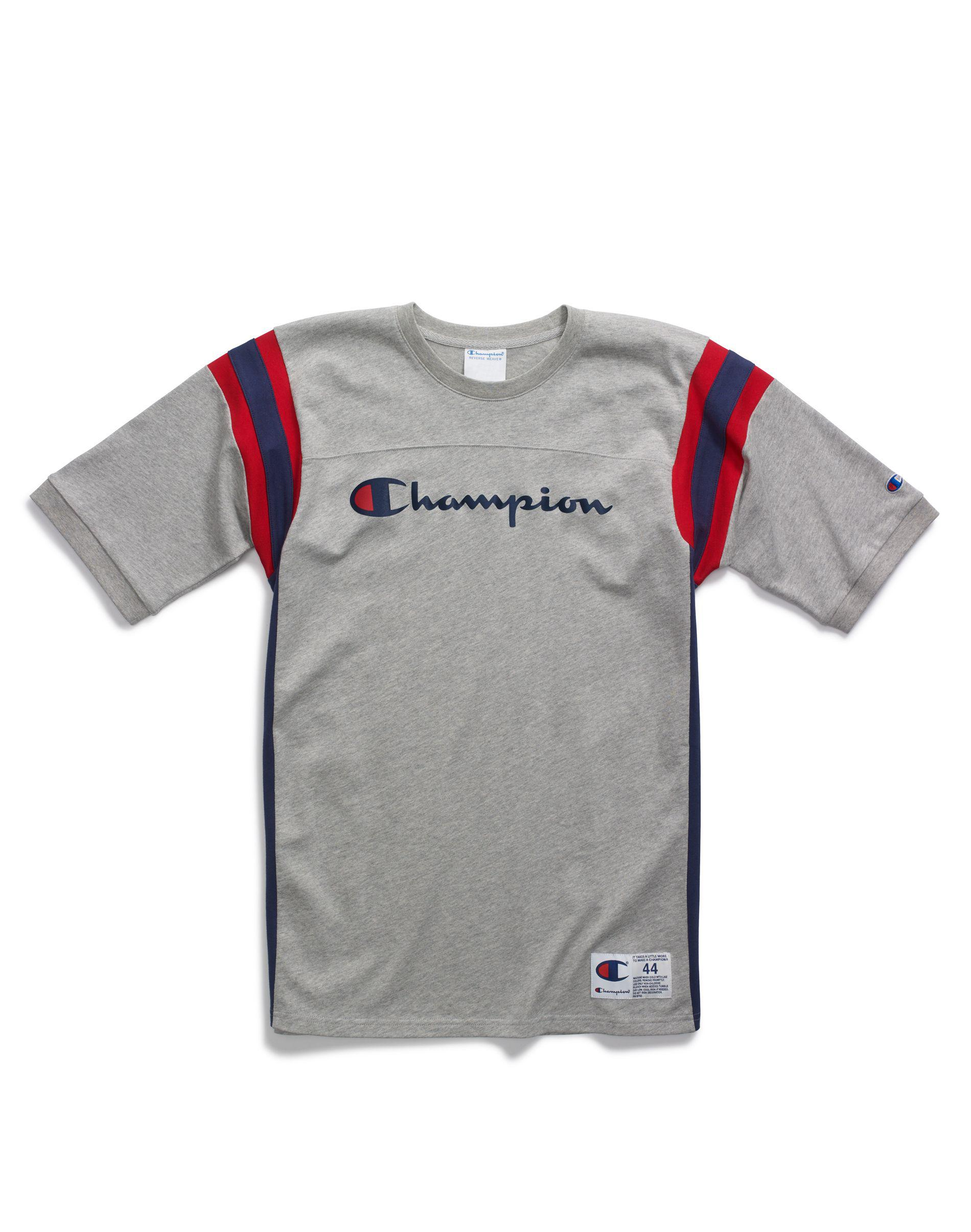27406e8b4050 Champion Life® Heavyweight Football Tee in Gray for Men - Lyst