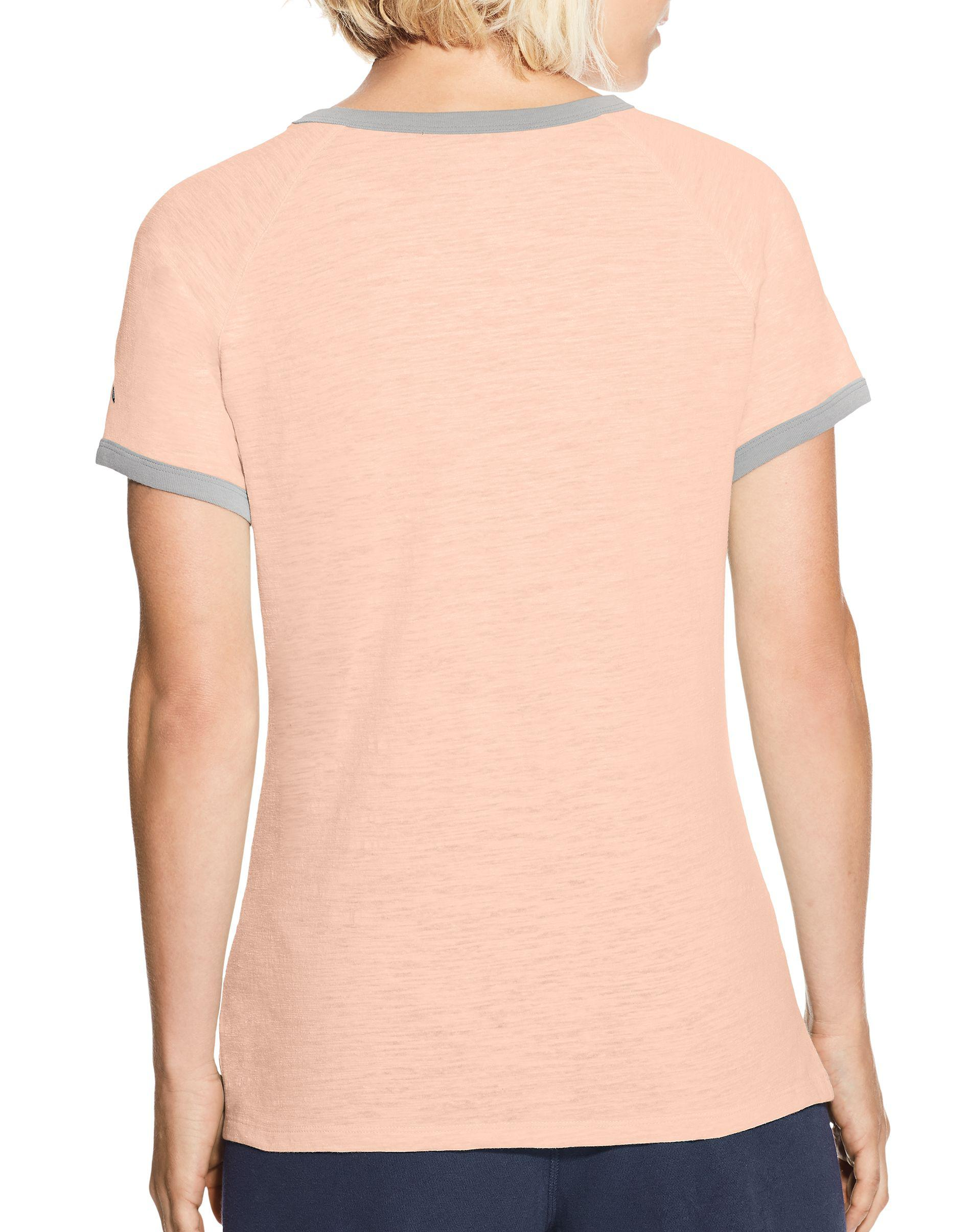0386ba5bd25c Champion Heritage Ringer Tee, Phys Ed Dept. in Pink - Lyst