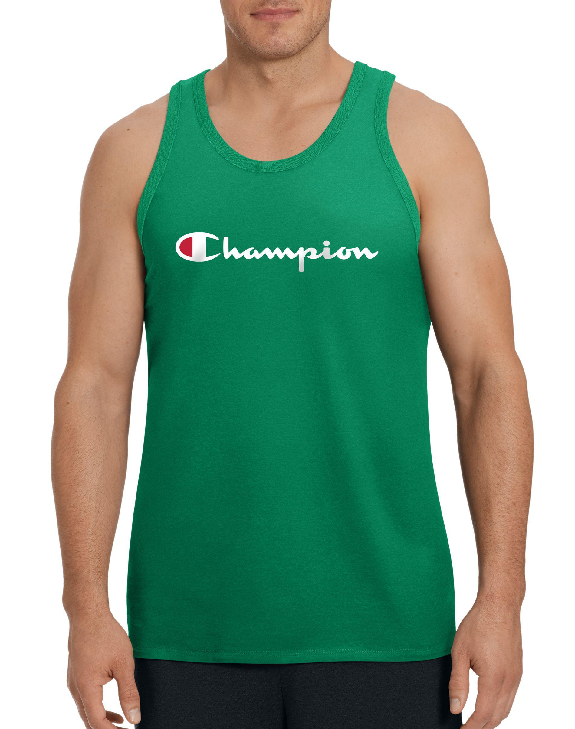 a495618f21bb Lyst - Champion Life® Graphic Tank, Script Logo in Green for Men
