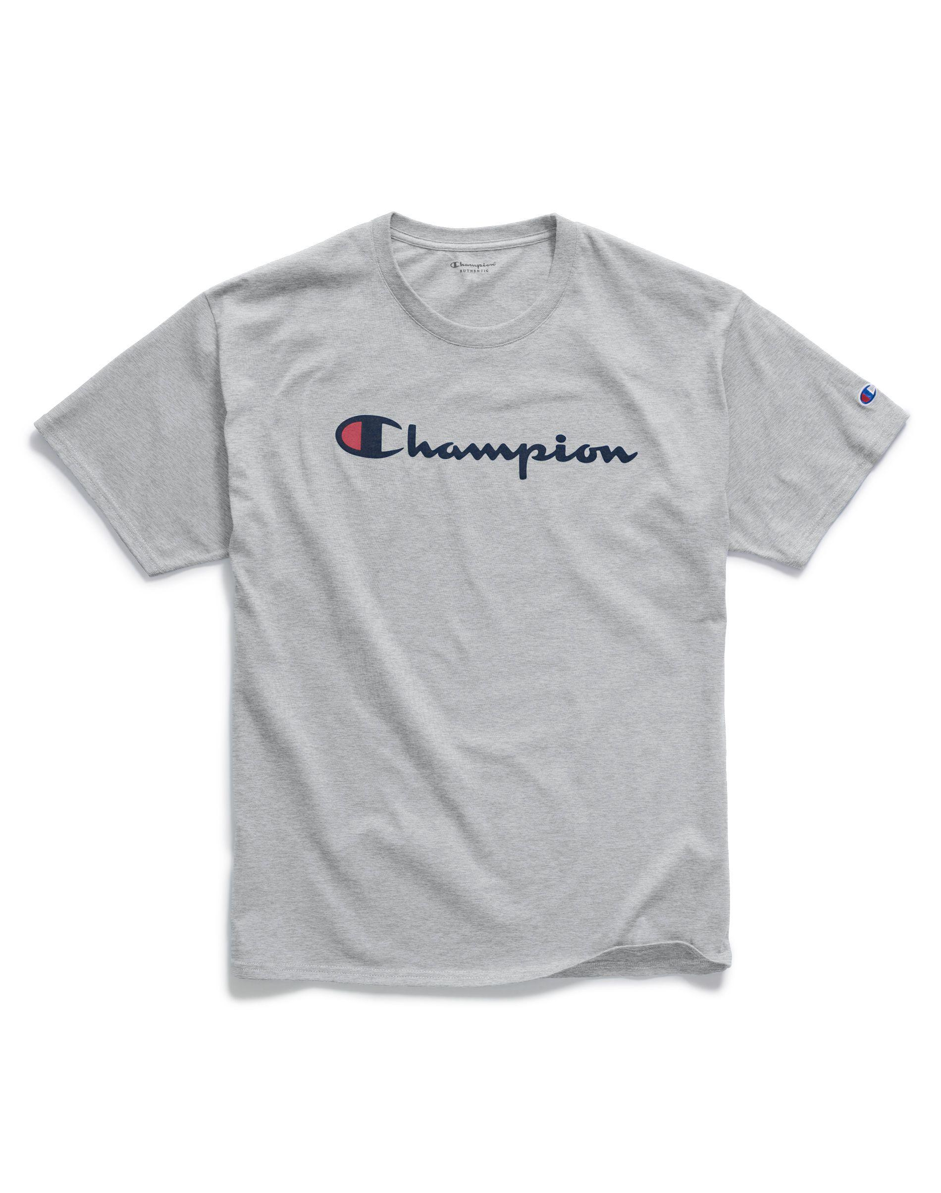 f18e99dd2b38 Champion - Gray Script Jersey Graphic Tee for Men - Lyst. View fullscreen