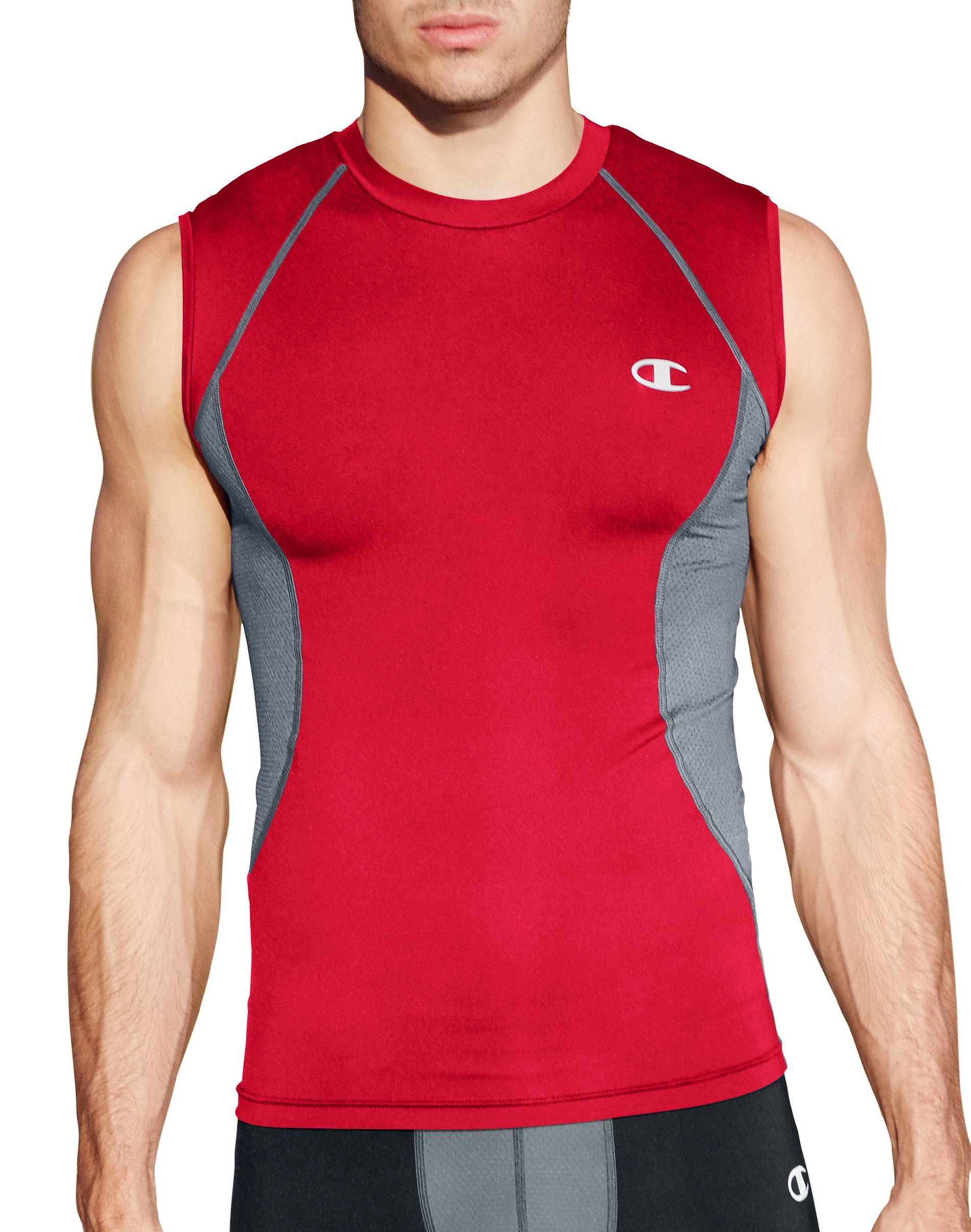 c12fca388 Lyst - Champion Geartm Compression Muscle Tee in Red for Men