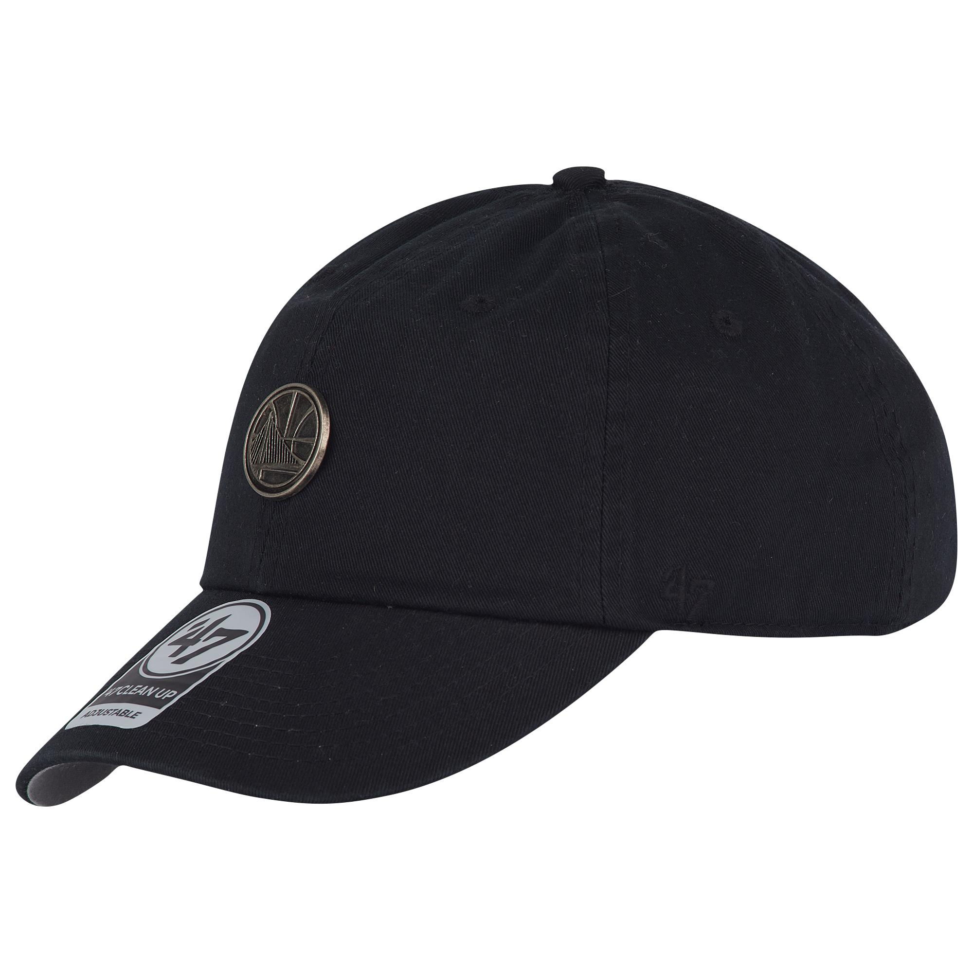 587f3b33823e1a 47 Brand. Men's Blue Golden State Warriors Nba Badge Cleanup Adjustable Cap