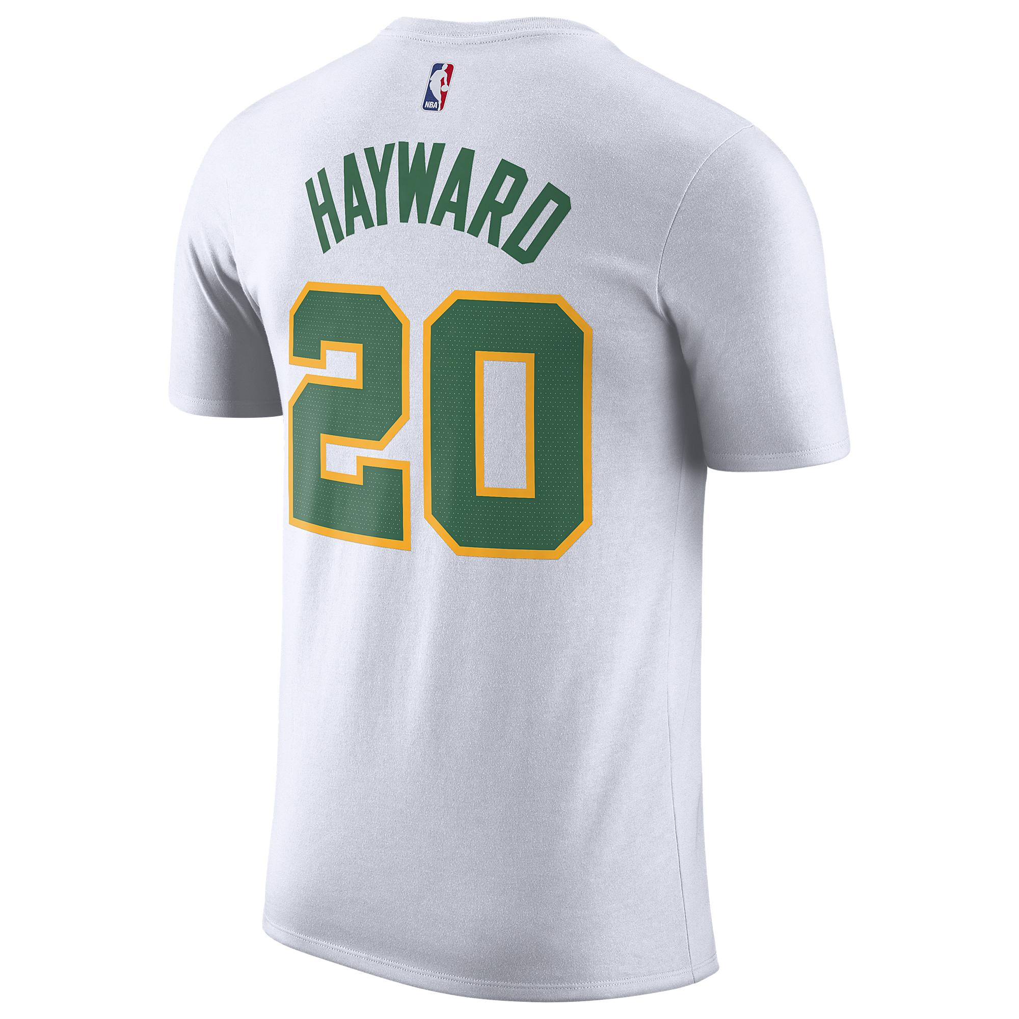 dcecb5b4264 Nike Gordon Hayward Nba City Edition Name & Number T-shirt in White ...