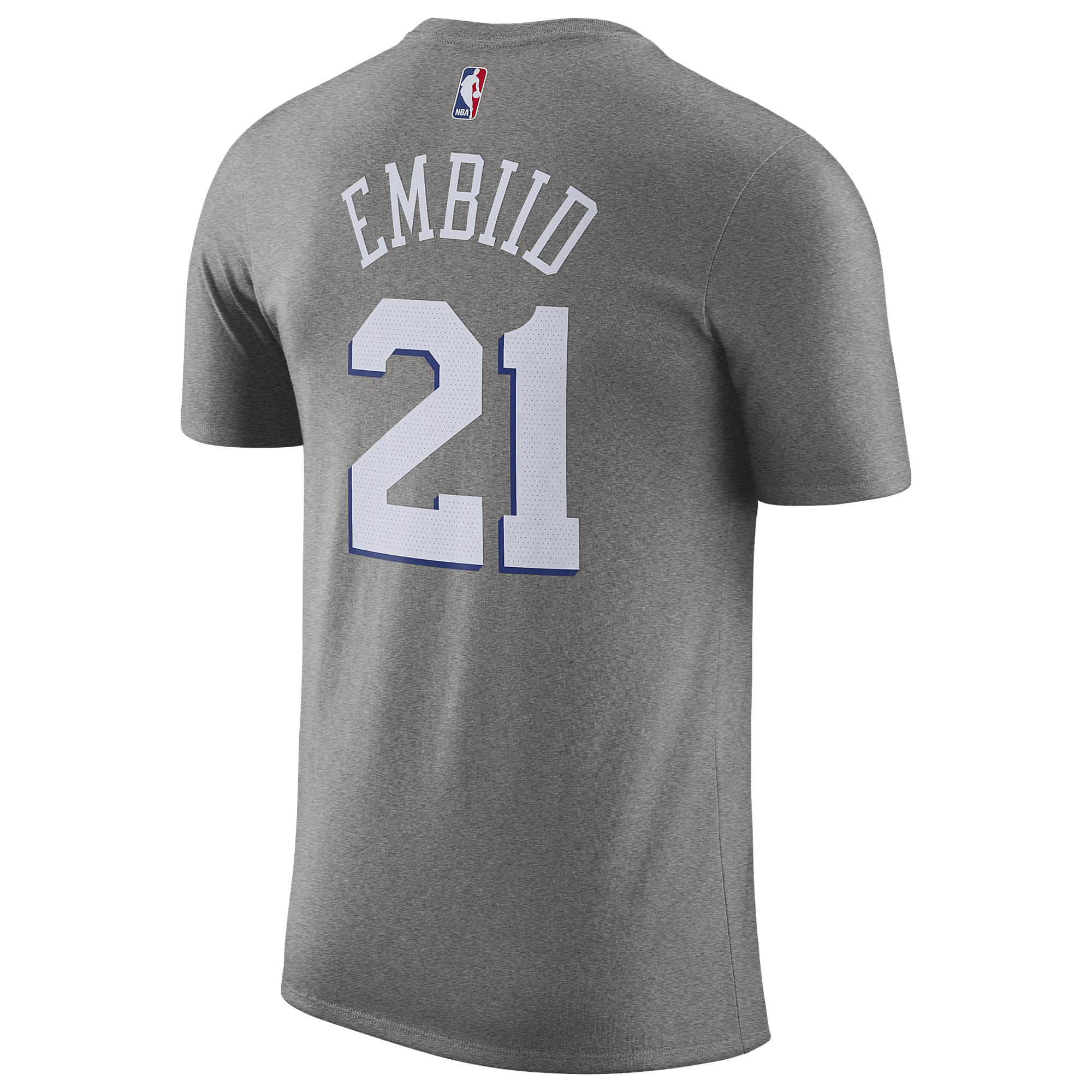 5b8662733 Nike Joel Embiid Nba City Edition Name & Number T-shirt in Gray for ...