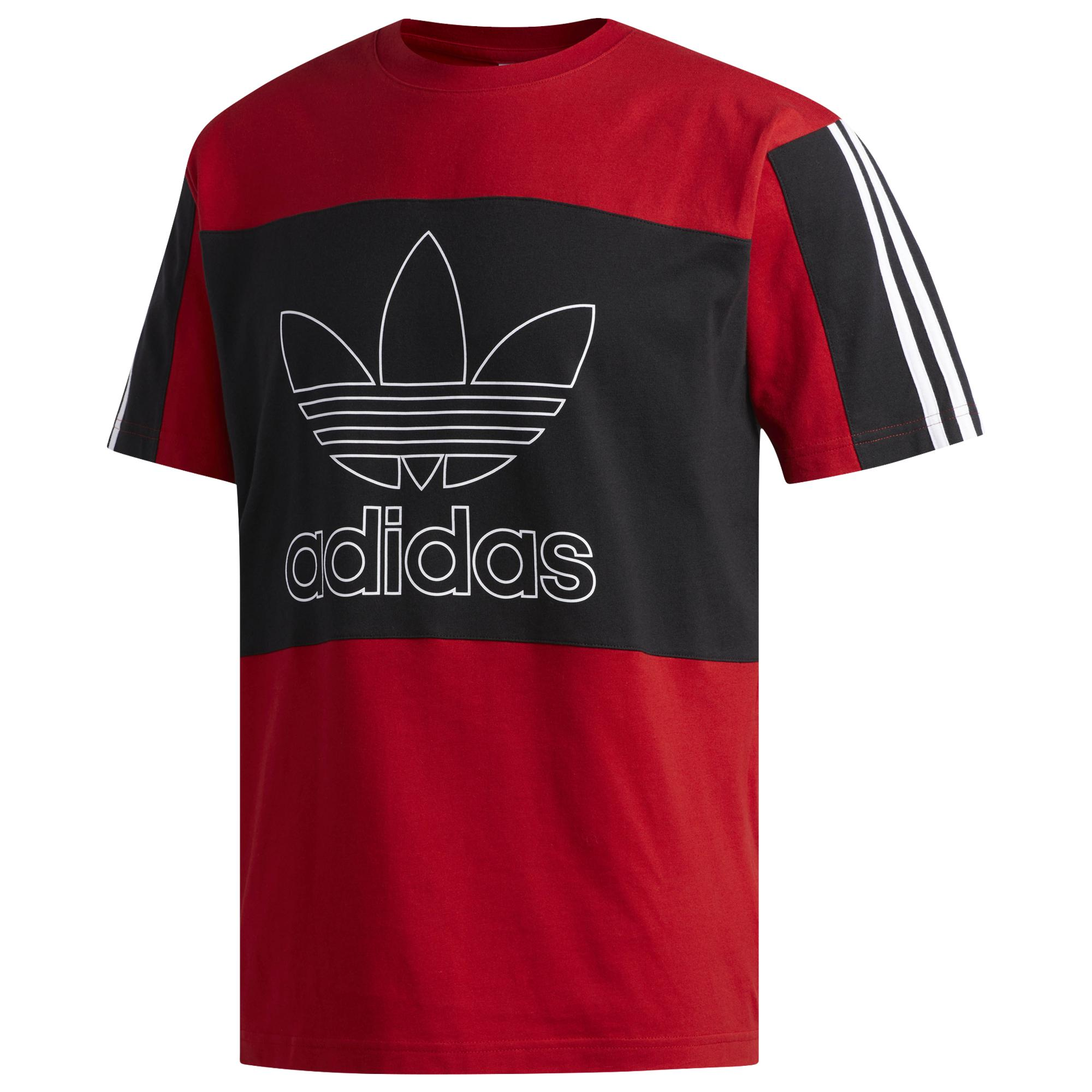 a5234805f Adidas Originals - Red Outline S/s Block T-shirt for Men - Lyst. View  fullscreen