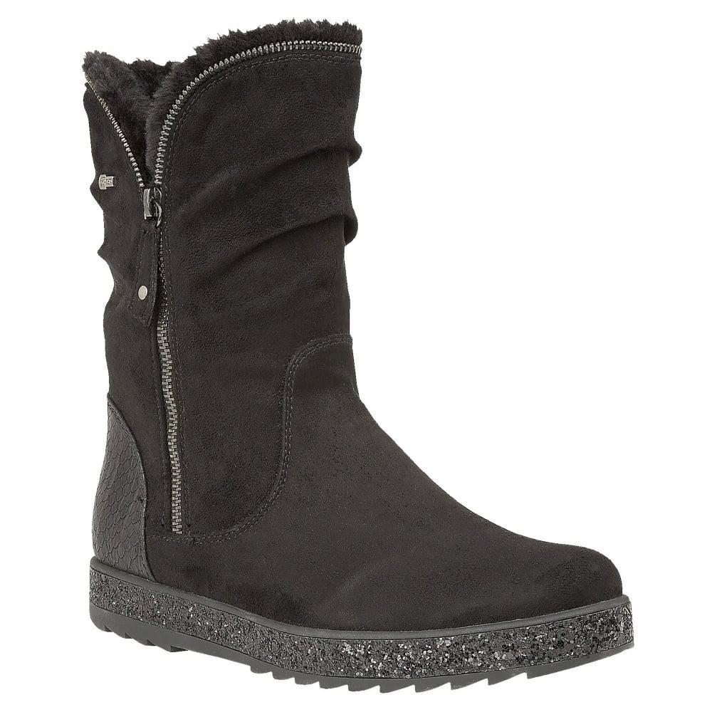 15c42248 Lotus Jadis Women Calf Length Boots in Black - Lyst