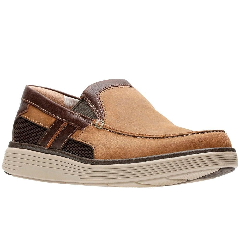55b1ae1147b Clarks Un Abode Free Mens Slip On Shoes in Brown for Men - Lyst