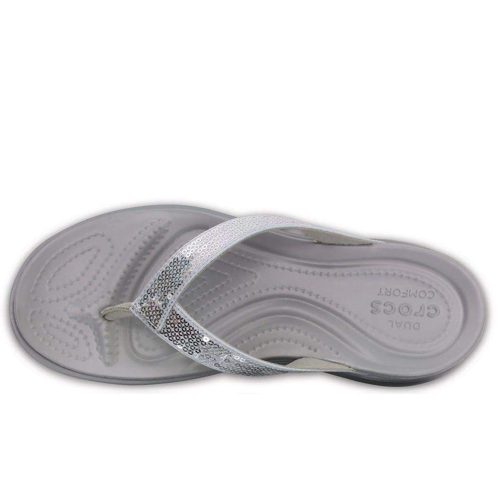 c838cc636 Crocs™ - Metallic Capri V Sequin Womens Toe Post Sandals Women s Flip Flops    Sandals. View fullscreen