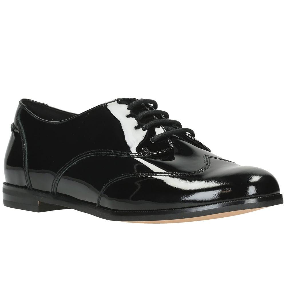 Clarks Damenschuhe Andora Trick Damenschuhe Clarks Casual Lace Up Schuhes in schwarz Lyst 5d7634