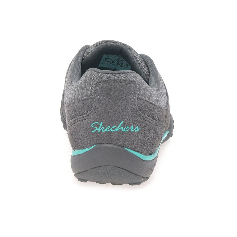 2888c466107 Skechers Breathe Easy Imagine Womens Sports Trainers in Gray - Lyst