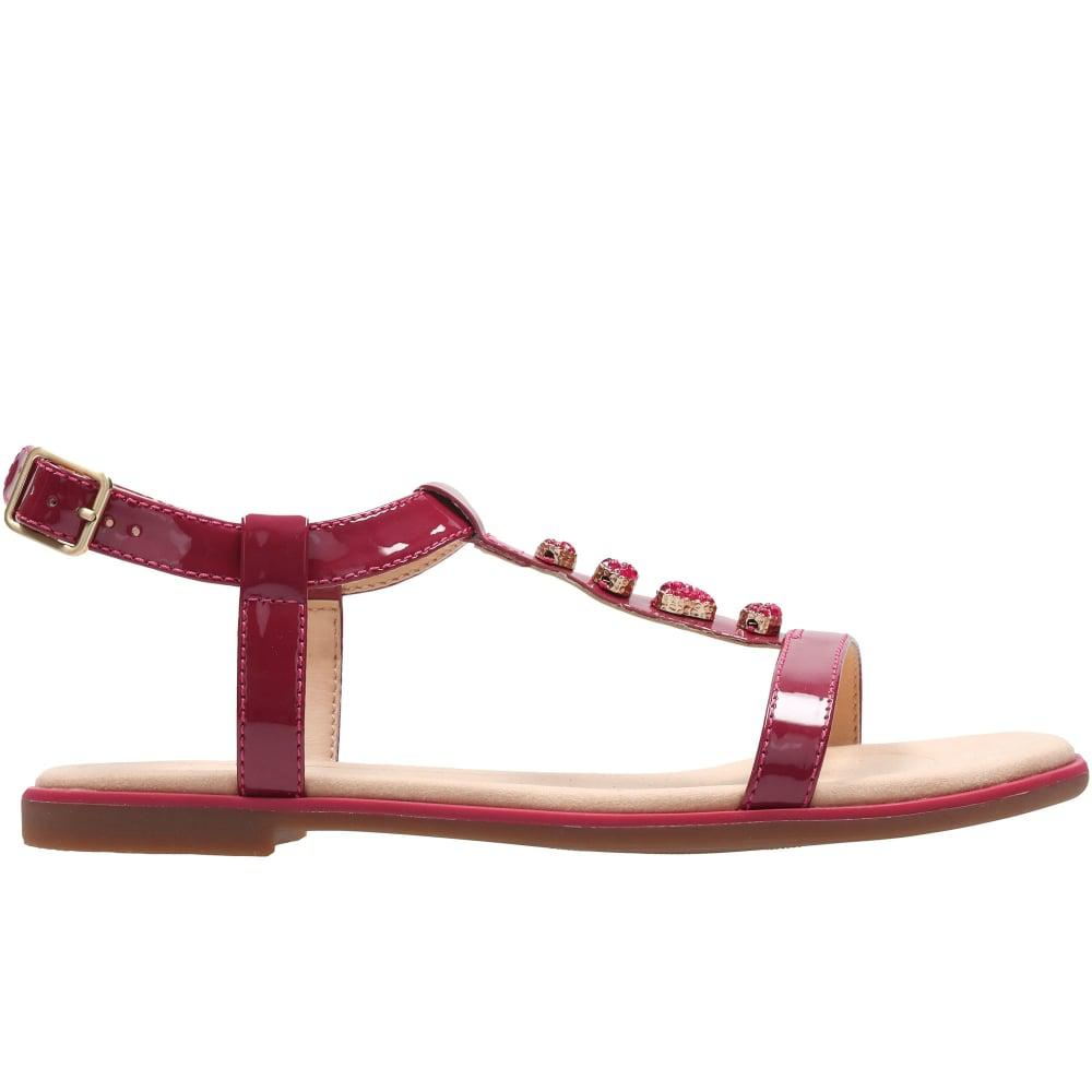 Clarks - Multicolor Bay Blossom Womens Patent Sandals - Lyst. View  fullscreen