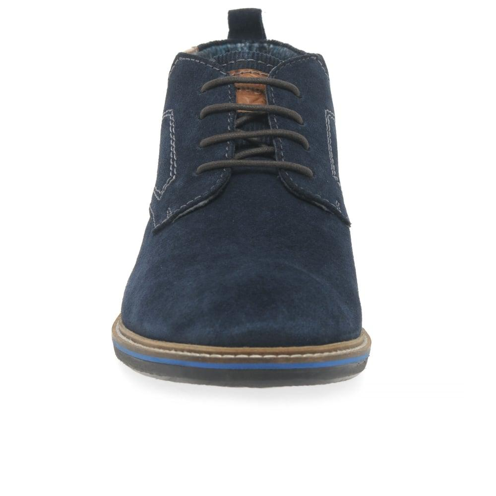 f76b8e9ddfbe0 Bugatti Nixon Mens Casual Suede Shoes in Blue for Men - Lyst