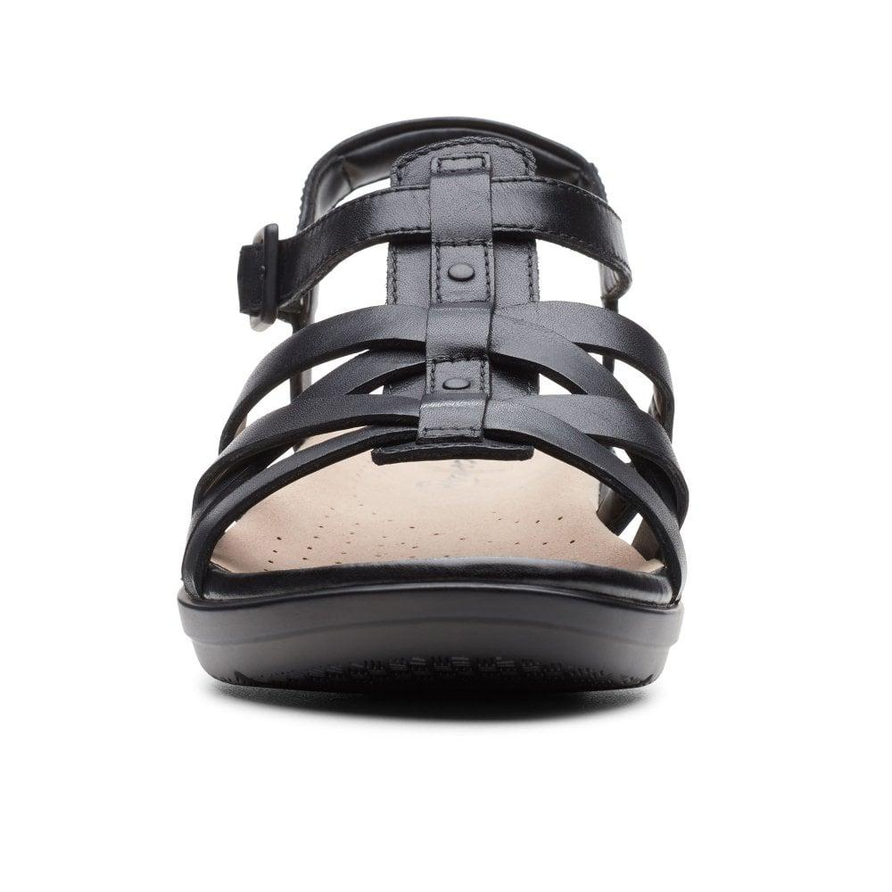 283bf06afc5e Clarks - Black Loomis Katey Womens Wide Fit Fisherman Sandals - Lyst. View  fullscreen