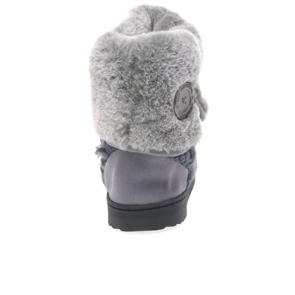 Lyst Dearfoams Cable Knit Womens Slipper Boots In Gray Save 5