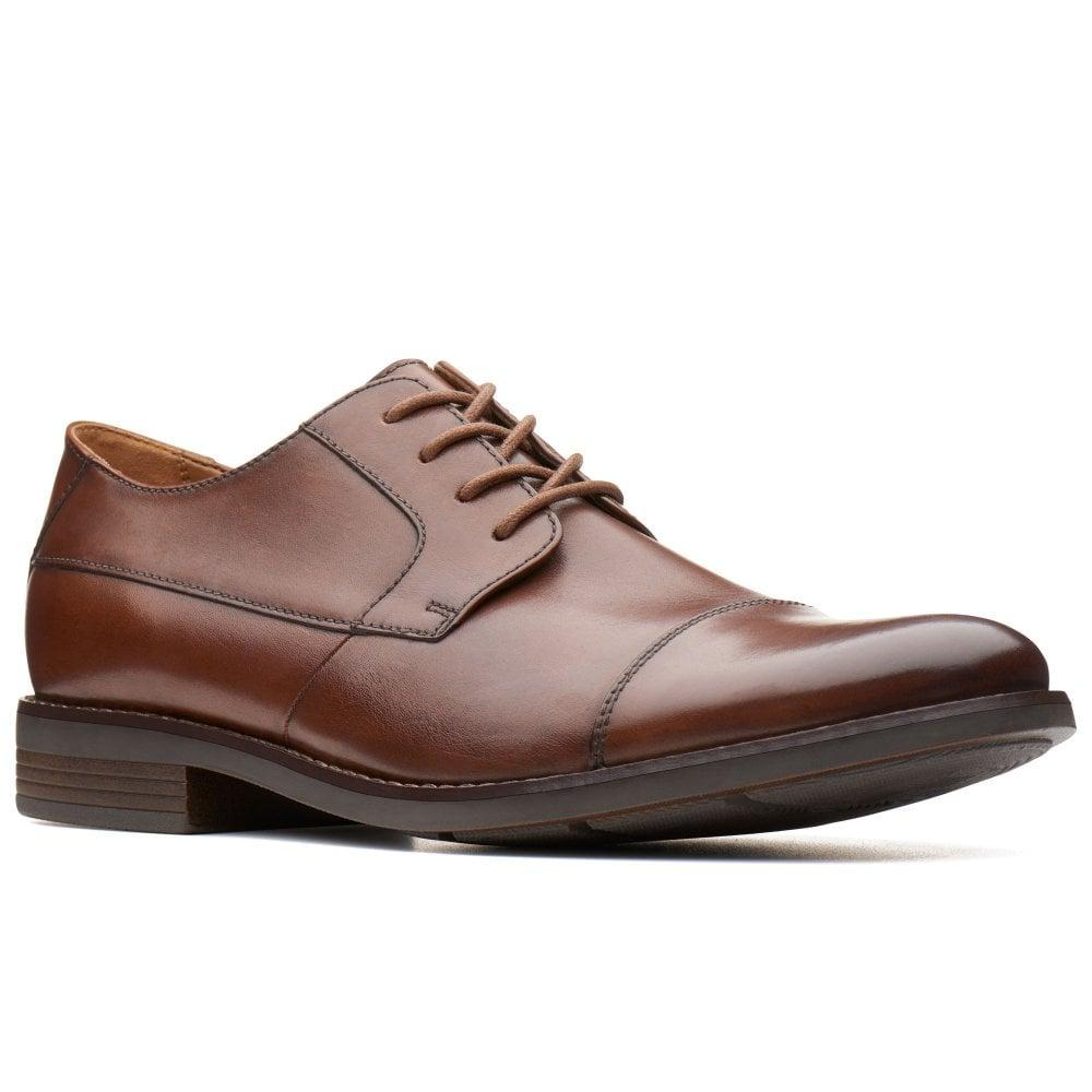 52abfcf85697 Clarks Becken Cap Mens Wide Fit Formal Lace Up Shoes in Brown for ...