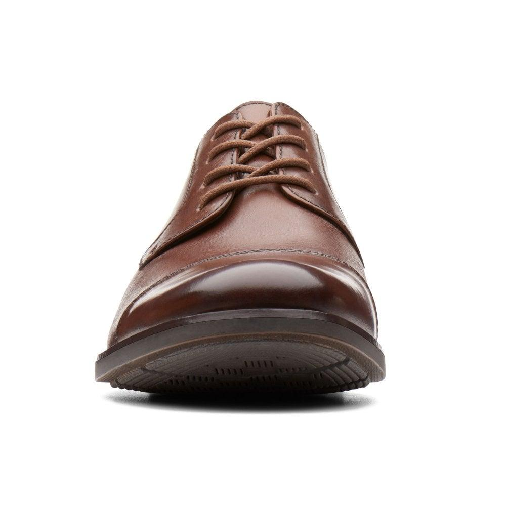 42e24ee5b895 Clarks - Brown Becken Cap Mens Wide Fit Formal Lace Up Shoes for Men -  Lyst. View fullscreen