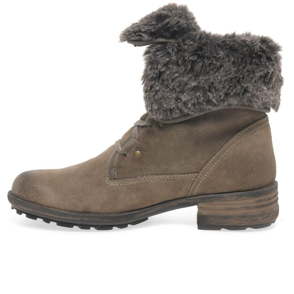 1c7938852da72 Josef Seibel - Gray Sandra 04 Fur Lined Womens Ankle Boots - Lyst. View  fullscreen