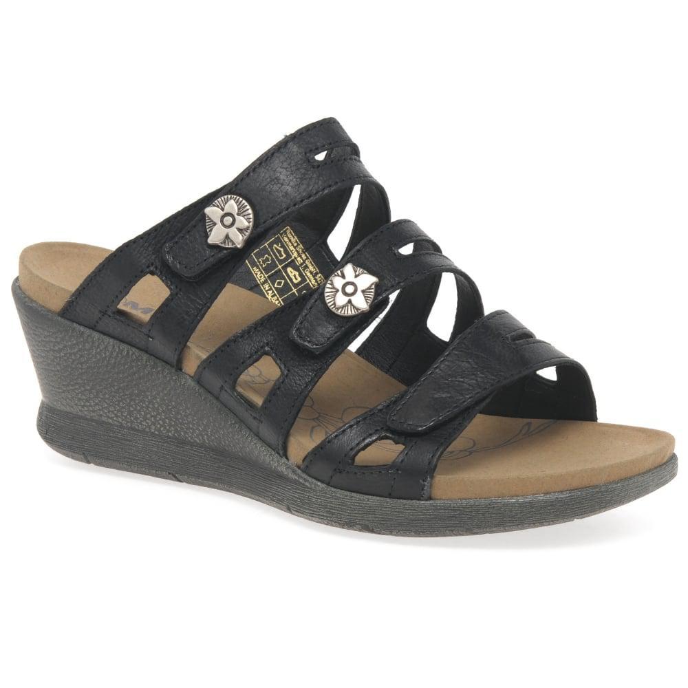 4b6580f809e8 Lyst - Romika Nevis 04 Womens Wedge Heel Sandals in Black