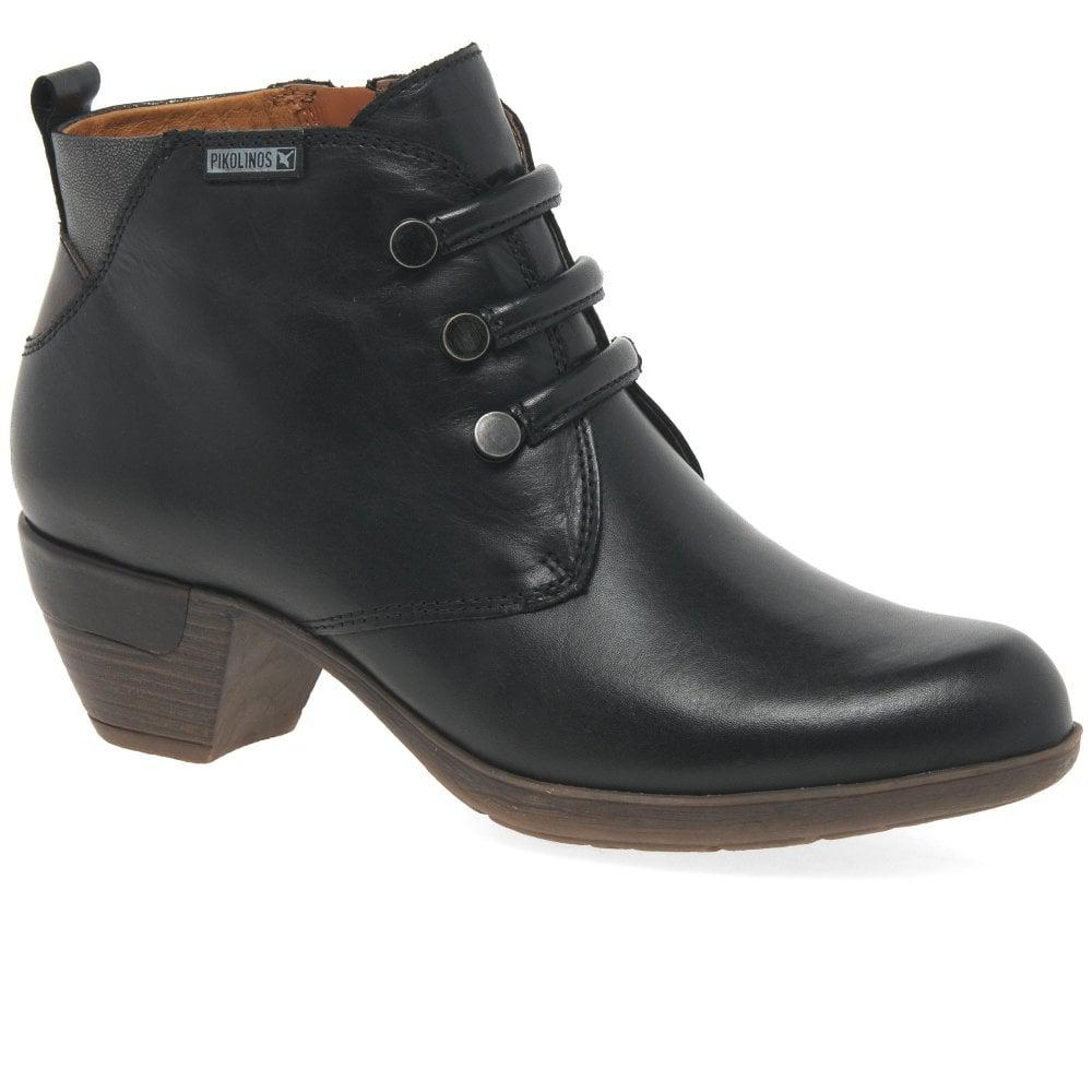 522d7aa7d987 Pikolinos - Black Rotterdam Womens Military Detail Leather Ankle Boots -  Lyst. View fullscreen