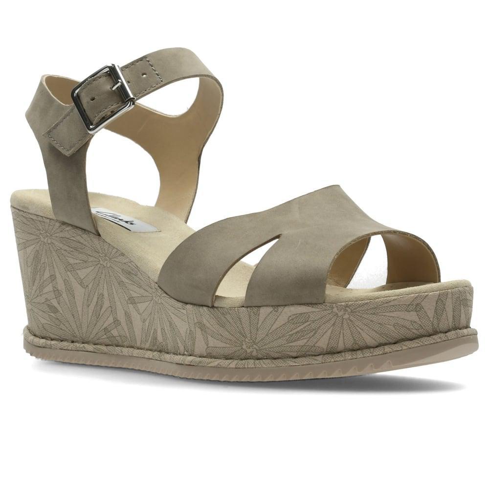 241730699d0bd8 Lyst - Clarks Akilah Eden Womens Wedge Heel Sandals