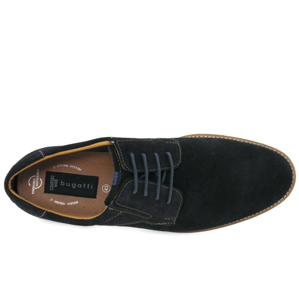 6b70791039fd8 Bugatti Dark Blue Suede 'tern' Casual Lace Up Shoes in Blue for Men ...